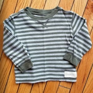 Carters Boys Thermal Striped Long Sleeve T Shirt 2